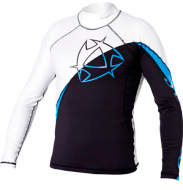 Гидромайка мужская Mystic 2011 Arrow Rashvest L/S White/Blue