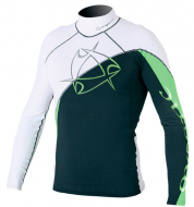 Гидромайка мужская Mystic 2011 Arrow Rashvest L/S White/Green