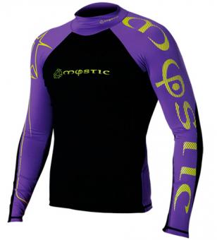 Гидромайка мужская Mystic 2011 Crossfire Rashvest L/S Purple/Yellow