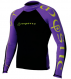 Гидромайка мужская Mystic 2011 Crossfire Rashvest L/S Purple/Yellow 1
