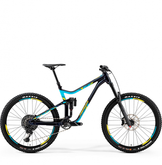Велосипед Merida One-Sixty 800 (2019) DarkBlue/Blue/Yellow