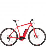 Электровелосипед Cube Cross Hybrid Pro 400 (2019) red´n´grey