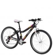 """Подростковый велосипед Head Lauren 24"""" (2014) черный с розовым"""