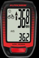 Велокомпьютер беспроводной Kross KRC 309W 9ф red