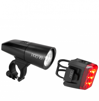 Комплект фонарей Cube Beleuchtungsset PRO 18 black´n´black