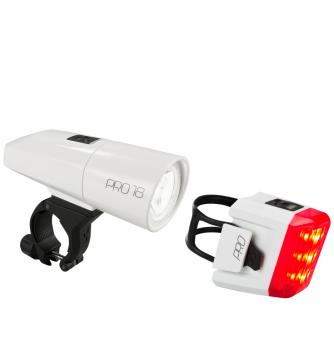 Комплект фонарей Cube Beleuchtungsset PRO 18 white´n´white
