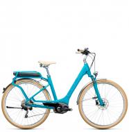 Электровелосипед Cube Elly Ride Hybrid 400 (2017) blue´n´aqua