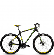Велосипед Kross Hexagon R5 (2017) black/yellow/lime matte