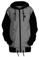Удлинённая куртка-толстовка Чукча Софт-Шелл бело-чёрный