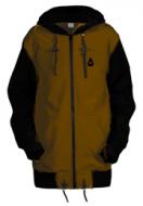 Удлинённая куртка-толстовка Чукча Софт-Шелл хаки-чёрный