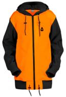 Удлинённая куртка-толстовка Чукча Софт-Шелл оранжево-чёрный