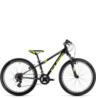 Подростковый велосипед Cube Kid 240 (2018) black´n´flashyellow