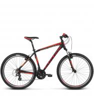 Велосипед Kross Hexagon X2 (2018) black/red/orange matte