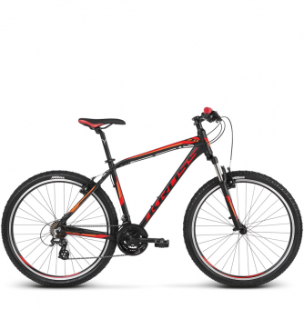 Велосипед Kross Hexagon 2 (2018) black/red/orange matte