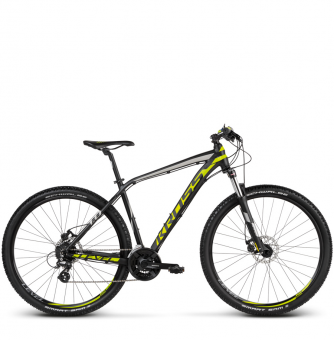 Велосипед Kross Level 1.0 (2018) black/lime/silver matte