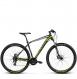 Велосипед Kross Level 1.0 (2018) black/lime/silver matte 1