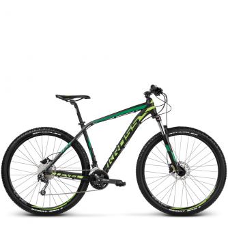 Велосипед Kross Level 4.0 (2018) black/green/dark green matte