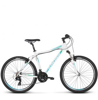 Велосипед Kross Lea 1.0 (2018) white/turquoise/green glossy