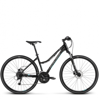 Велосипед Kross Evado 5.0 (2018) black/turquoise glossy