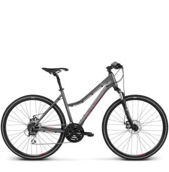 Велосипед Kross Evado 4.0 (2018) graphite/pink matte