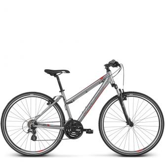 Велосипед Kross Evado 2.0 (2018) silver/red matte