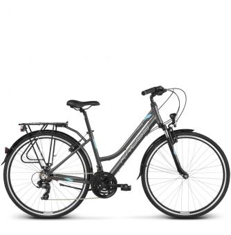 Велосипед Kross Trans 1.0 (2018) graphite/sky blue/white matte