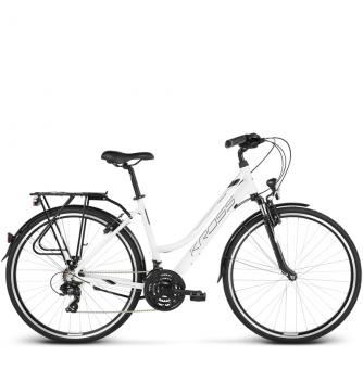 Велосипед Kross Trans 1.0 (2018) white/black glossy