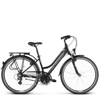 Велосипед Kross Trans 2.0 (2018) black/mint/silver matte