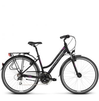 Велосипед Kross Trans 3.0 (2018) black/violet/silver matte