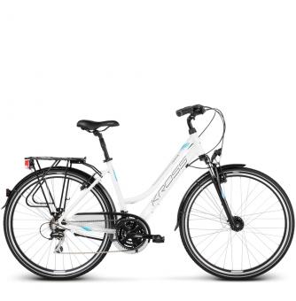 Велосипед Kross Trans 3.0 (2018) white/sky blue/black glossy