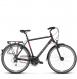 Велосипед Kross Trans 3.0 (2018) black/red/silver matte 1