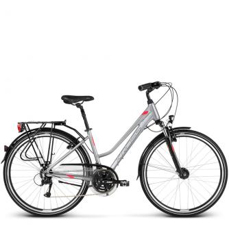 Велосипед Kross Trans 4.0 (2018) silver/raspberry/graphite