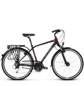 Велосипед Kross Trans 5.0 (2018) black/red/silver matte