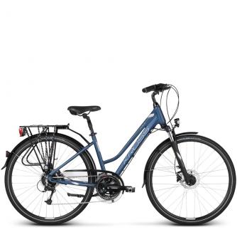 Велосипед Kross Trans 7.0 (2018) blue/silver matte