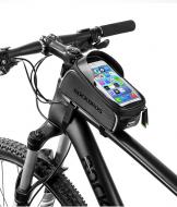 """Велосумка с держателем для телефона 6.0"""" на раму RockBros 017"""