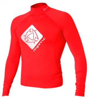 Гидромайка мужская Mystic 2012 Star Rash Vest Men L/S Red