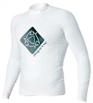 Гидромайка мужская Mystic 2012 Star Rash Vest Men L/S White