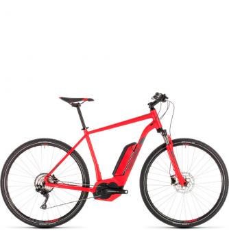 Электровелосипед Cube Cross Hybrid Pro 400 (2019) red´n´grey