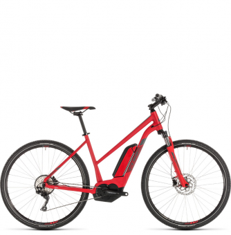 Электровелосипед Cube Cross Hybrid Pro 400 Trapeze (2019) red´n´grey