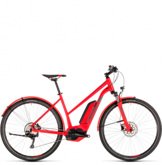 Электровелосипед Cube Cross Hybrid Pro Allroad 400 Trapeze (2019) red´n´grey