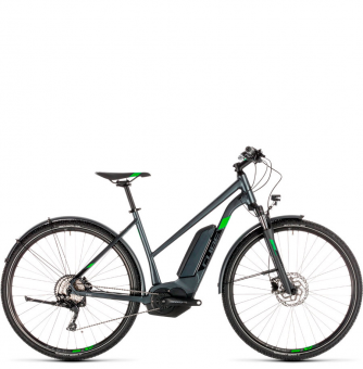 Электровелосипед Cube Cross Hybrid Pro Allroad 400 Trapeze (2019) iridium´n´green