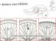 Фара-светодиод для спиц XC-784 8
