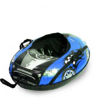 Тюбинг Тяни-Толкай овальный Машинка Comfort синяя