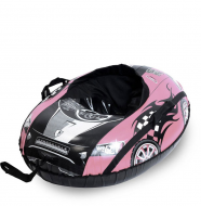 Тюбинг Тяни-Толкай овальный Машинка Comfort розовая