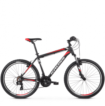 Велосипед Kross Hexagon 1.0 (2019) Black/White/Red Matte