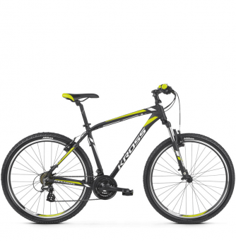 Велосипед Kross Hexagon 2 (2019) Black/White/Lime Matte