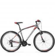 Велосипед Kross Hexagon 2 (2019) Graphite/Silver/Red Matte