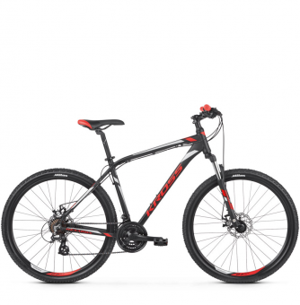 Велосипед Kross Hexagon 3 (2019) Black/Red/Silver Matte