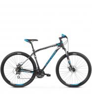Велосипед Kross Hexagon 4.0 (2019) Black/Blue/Silver Matte