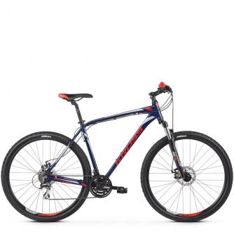 Велосипед Kross Hexagon 4.0 (2019) Navy Blue/Red/Silver Glossy